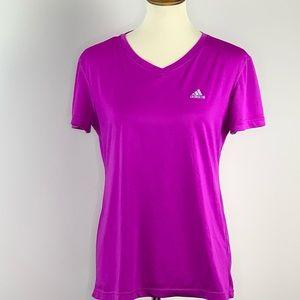Adidas Logo Climalite Top Pink Medium